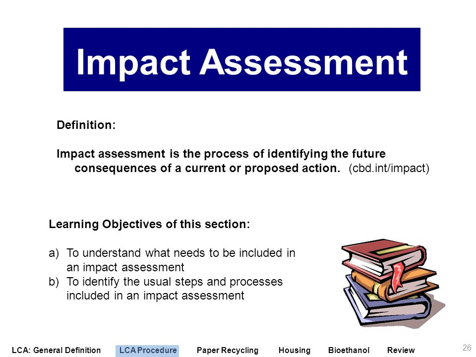 Impact Assessment Definition: