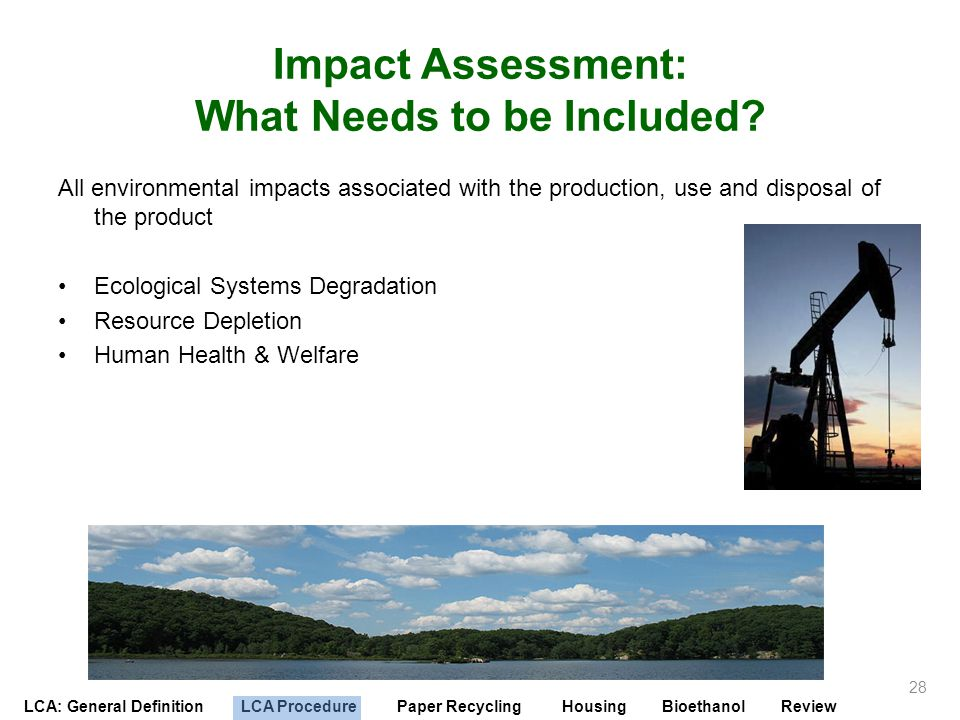 Impact Assessment: What Needs to be Included