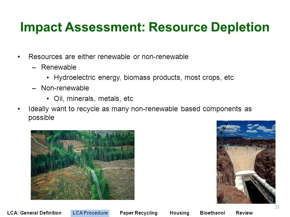 Impact Assessment: Resource Depletion