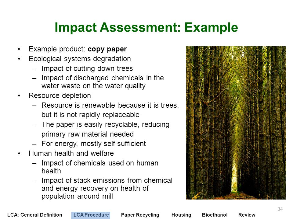 Impact Assessment: Example