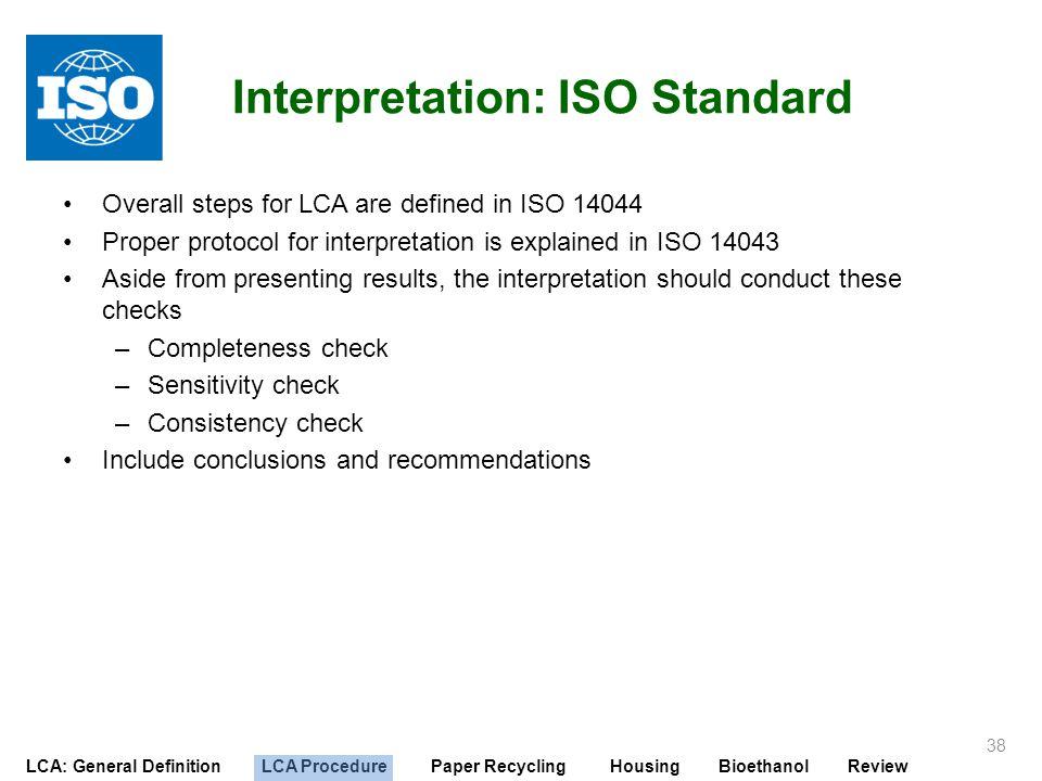 Interpretation: ISO Standard