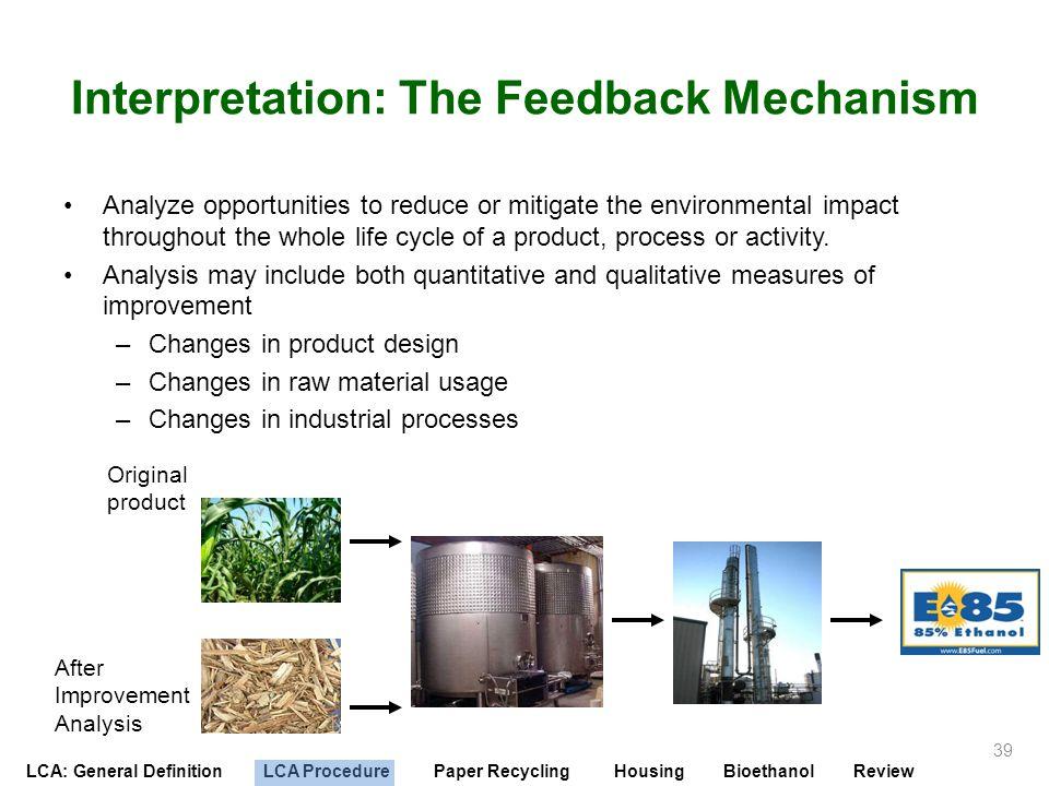 Interpretation: The Feedback Mechanism