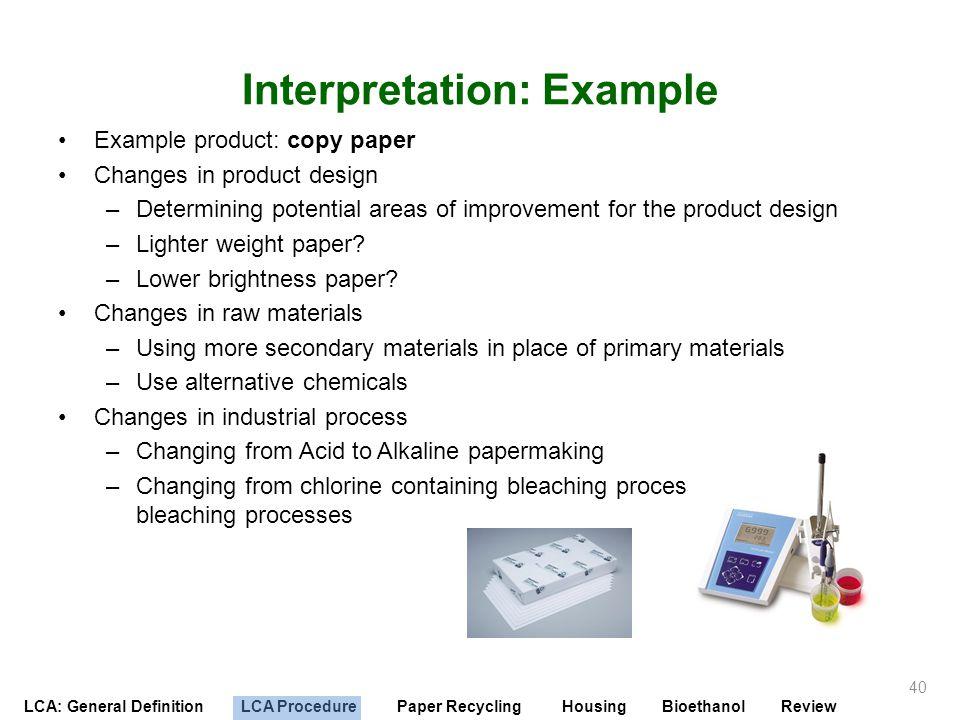 Interpretation: Example