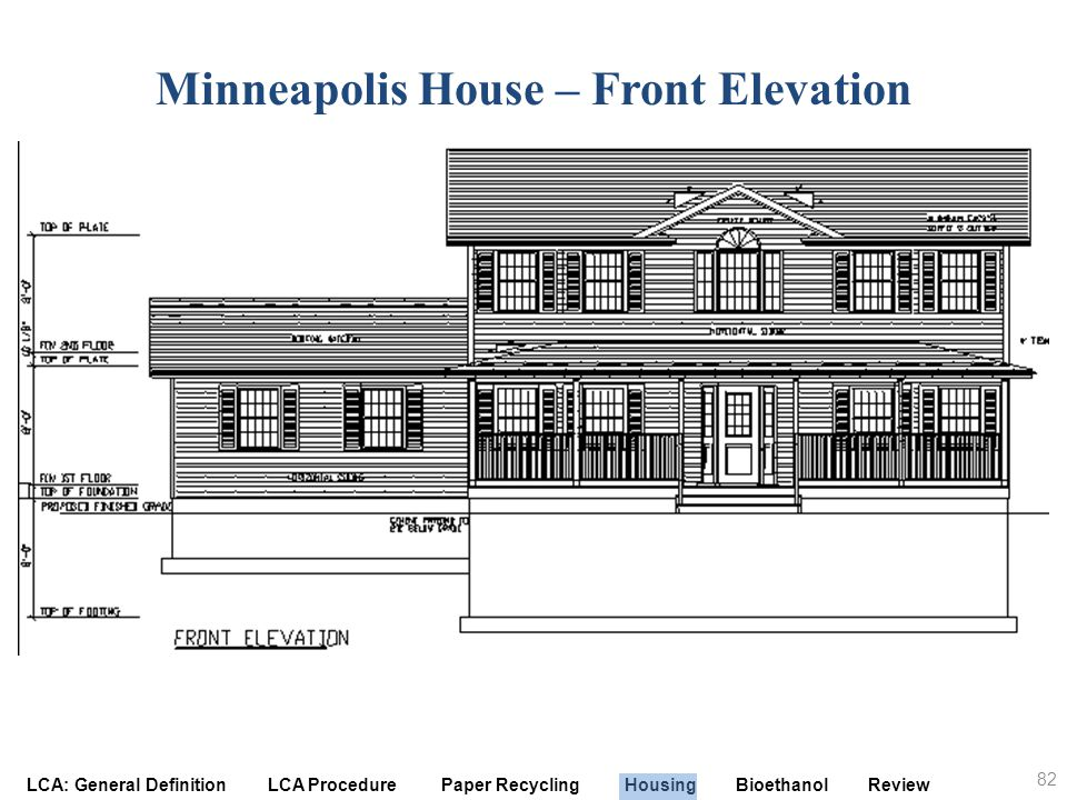 Minneapolis House – Front Elevation