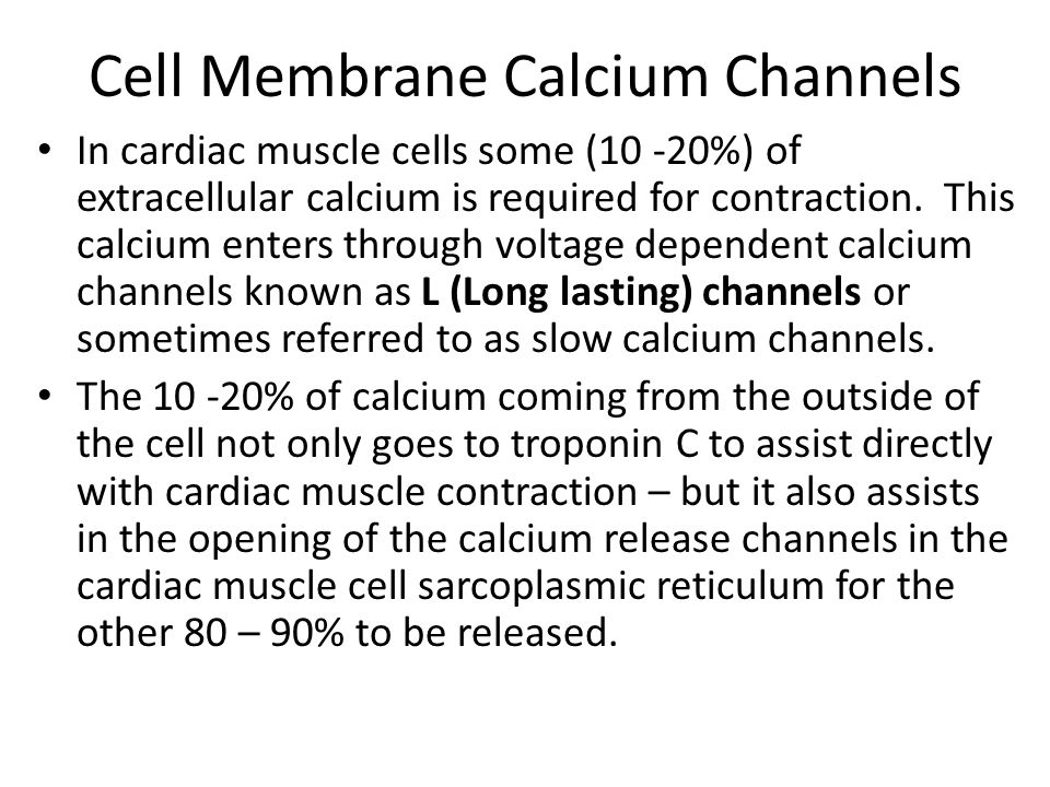 Cell Membrane Calcium Channels
