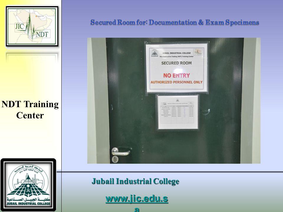 Secured Room for: Documentation & Exam Specimens