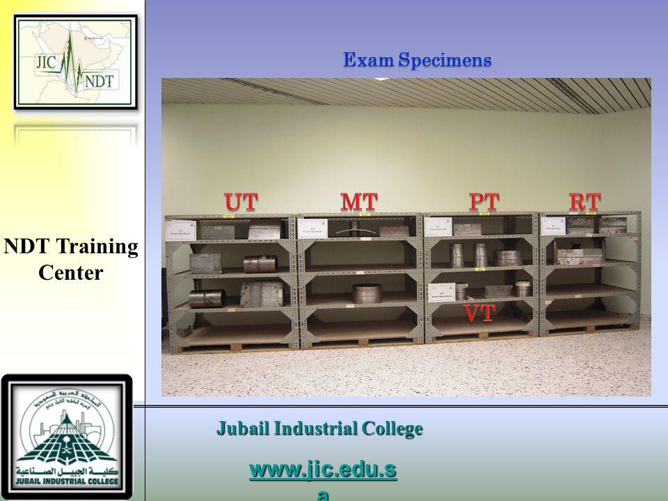 www.jic.edu.sa NDT Training Center UT MT PT RT VT