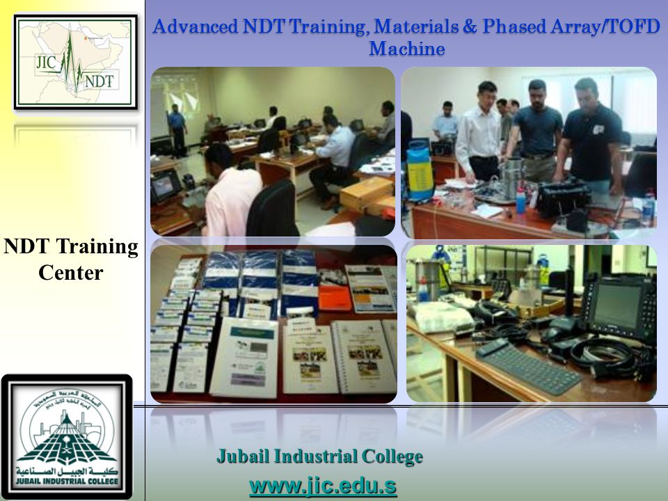 Advanced NDT Training, Materials & Phased Array/TOFD Machine