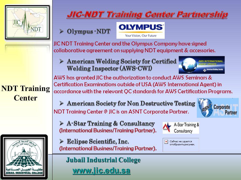 JIC-NDT Training Center Partnership