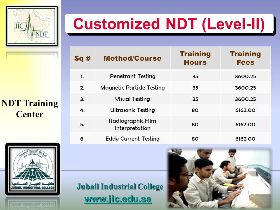 Customized NDT (Level-II)