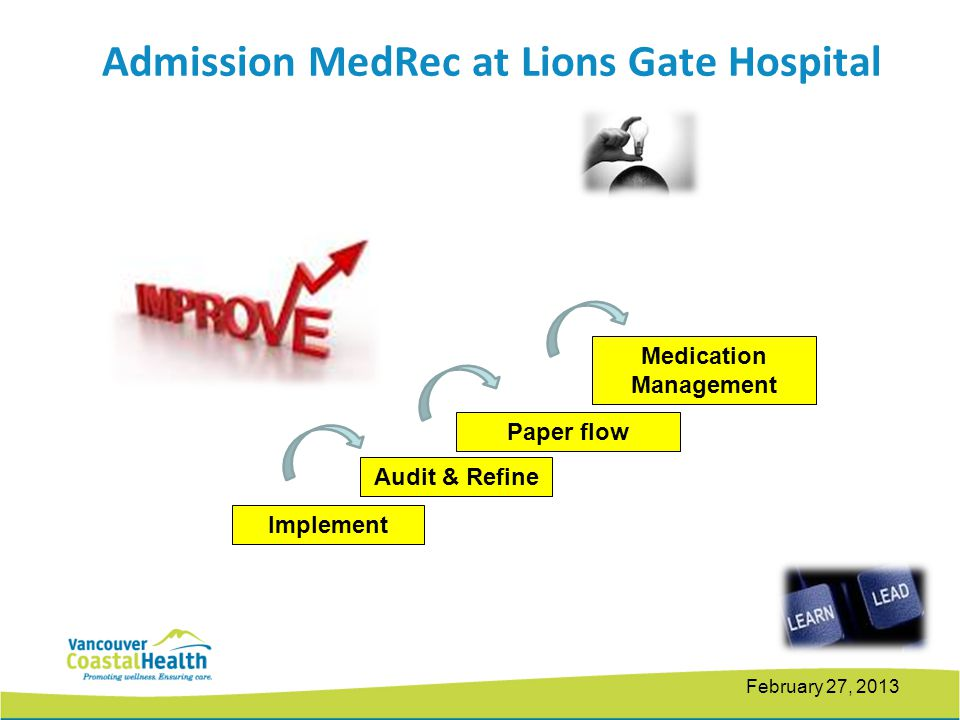Admission MedRec at Lions Gate Hospital Medication Management