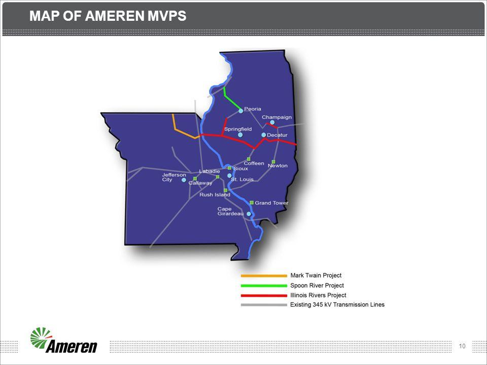 MAP OF AMEREN MVPs