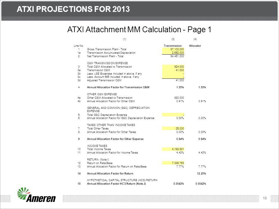 ATXI Attachment MM Calculation - Page 1