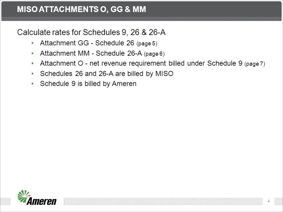 MISO ATTACHMENTs O, GG & MM