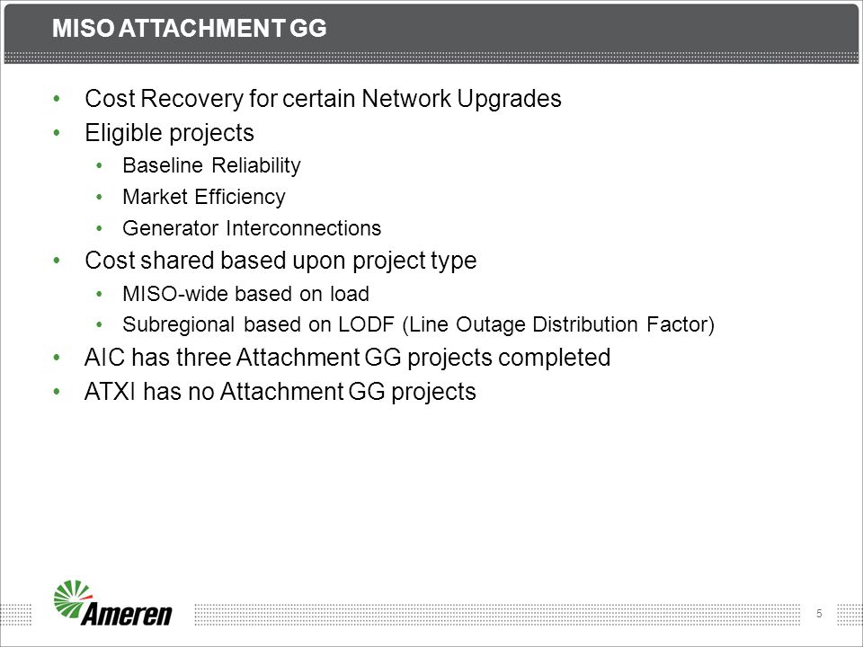 Cost Recovery for certain Network Upgrades Eligible projects