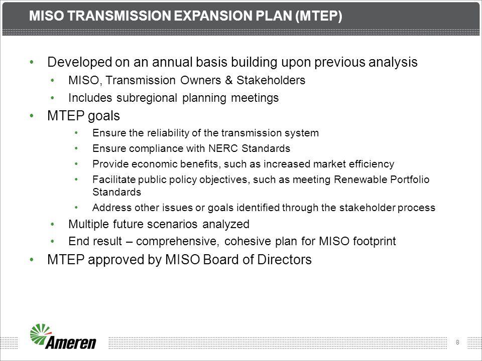 Miso transmission expansion plan (MTEP)