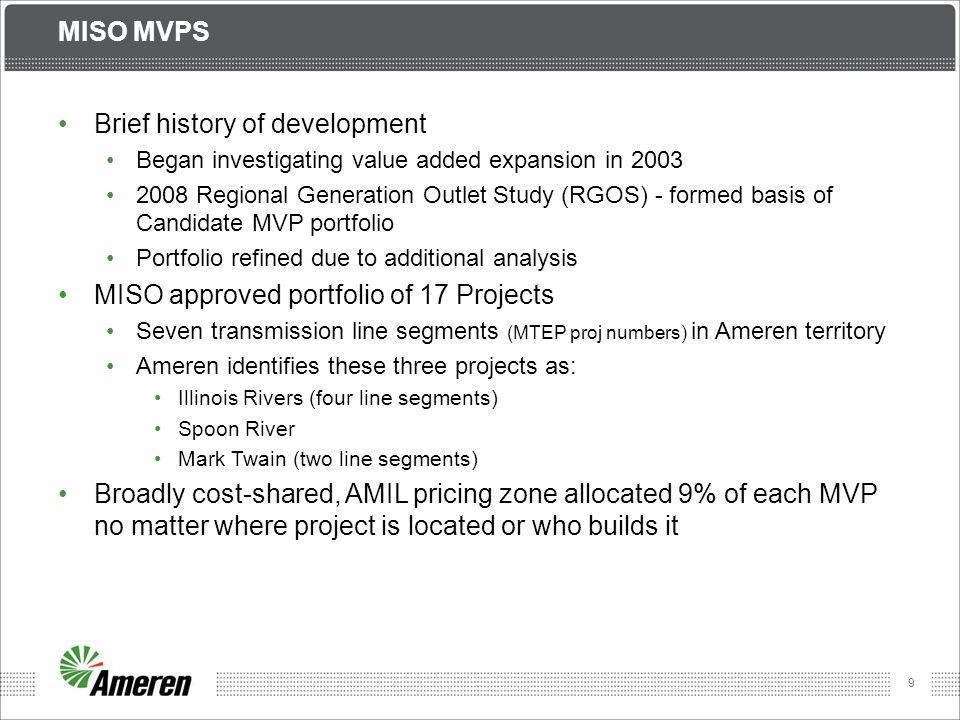 Brief history of development