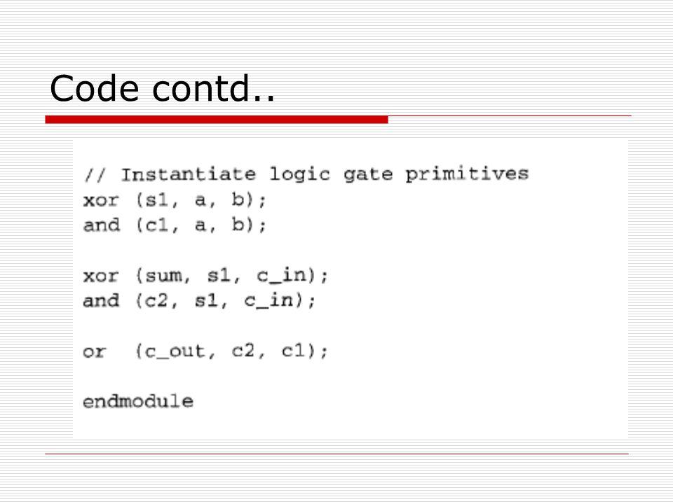 Code contd..