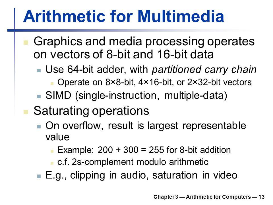 Arithmetic for Multimedia