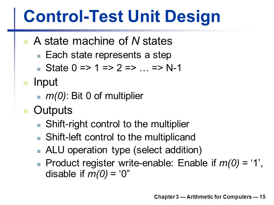 Control-Test Unit Design