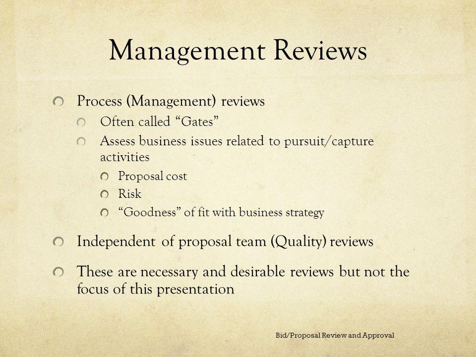 Management Reviews Process (Management) reviews