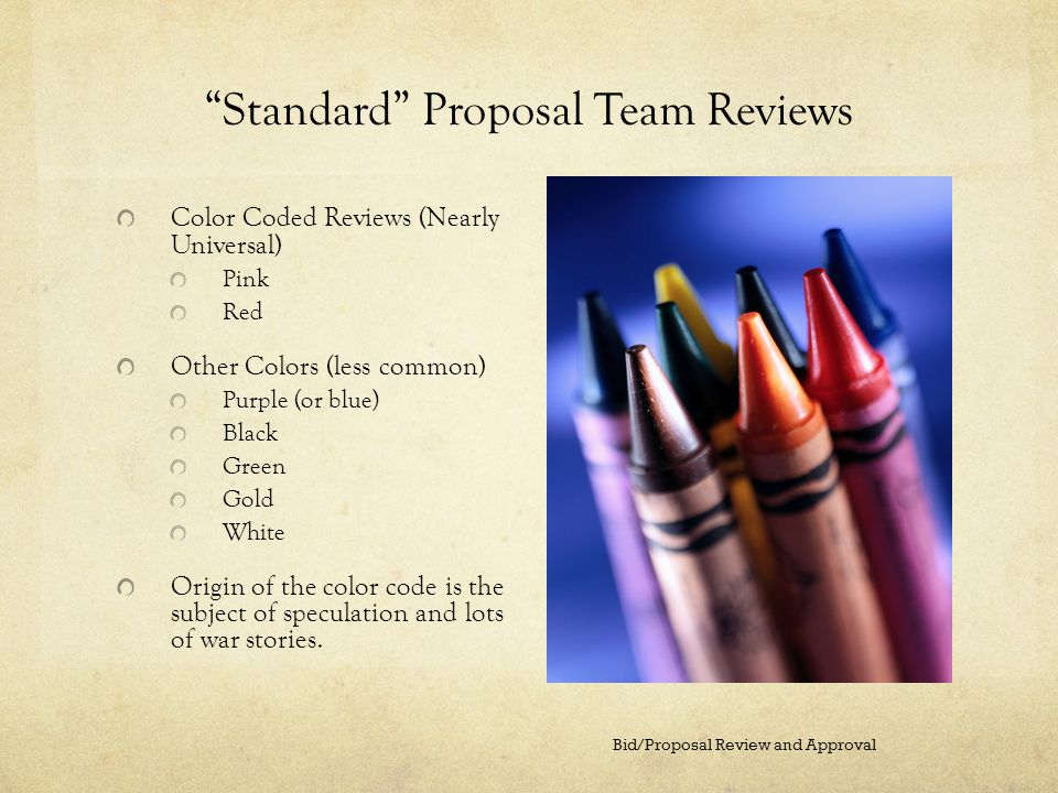 Standard Proposal Team Reviews