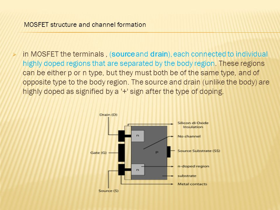 MOSFET structure and channel formation