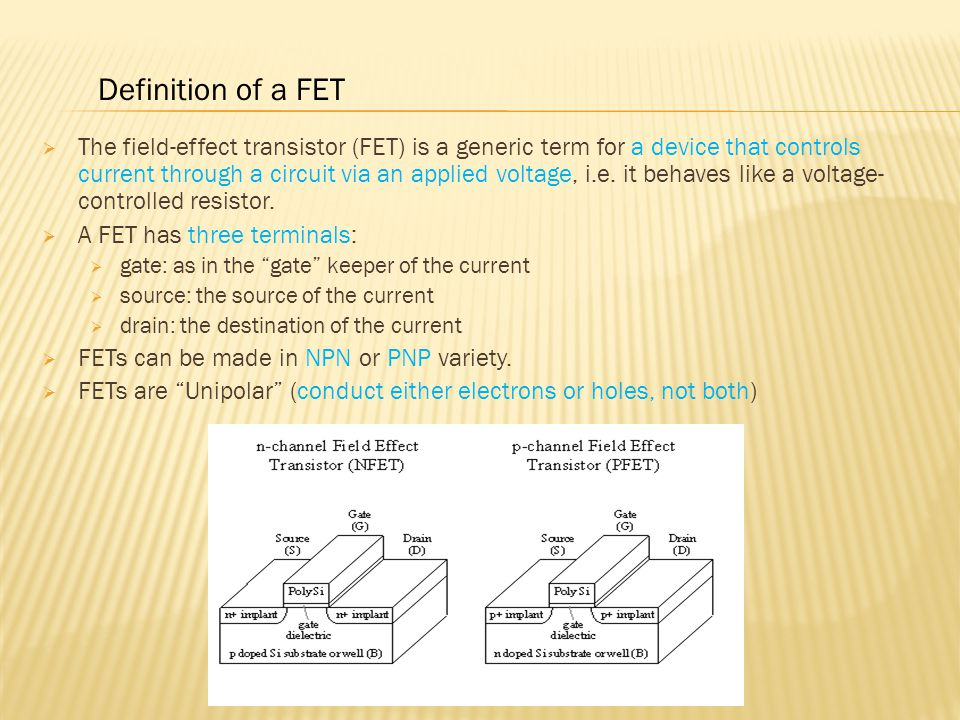 Definition of a FET