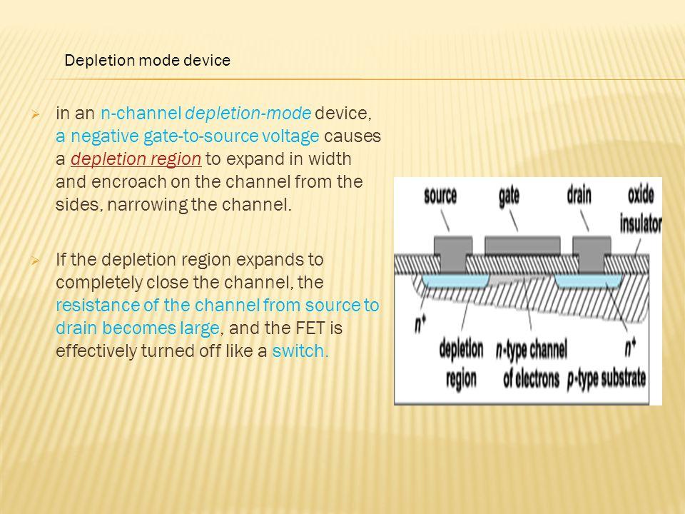 Depletion mode device