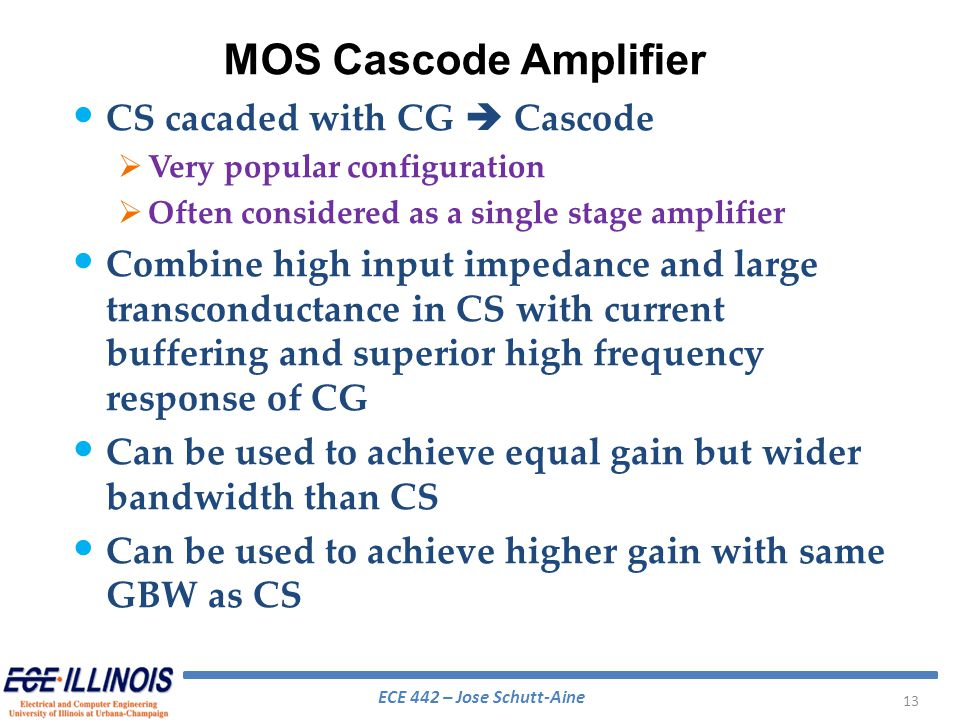 MOS Cascode Amplifier CS cacaded with CG  Cascode