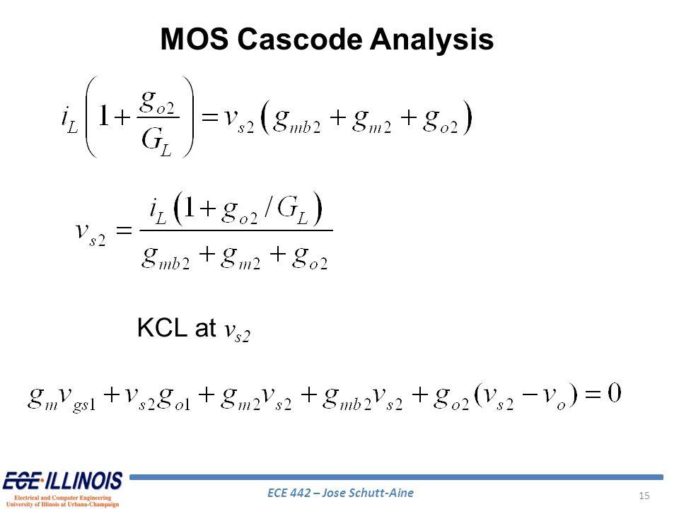 MOS Cascode Analysis KCL at vs2