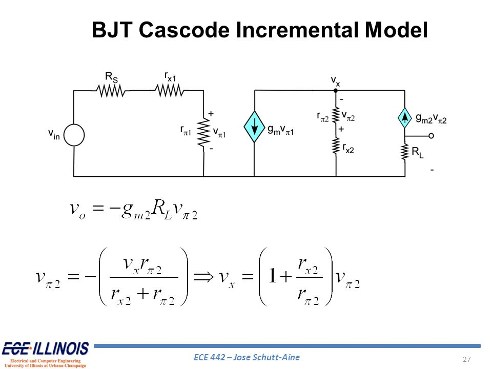 BJT Cascode Incremental Model