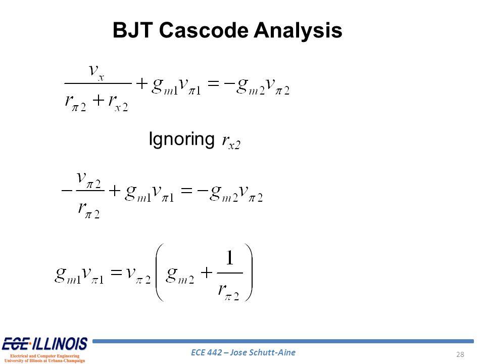 BJT Cascode Analysis Ignoring rx2