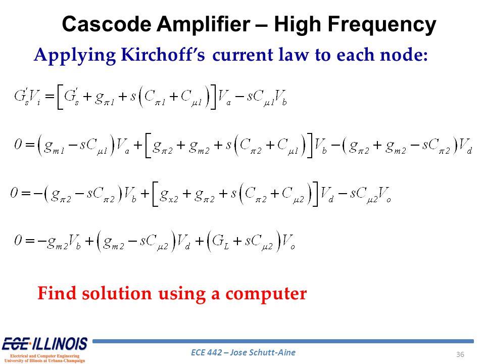 Cascode Amplifier – High Frequency