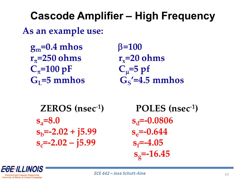 Cascode Amplifier – High Frequency