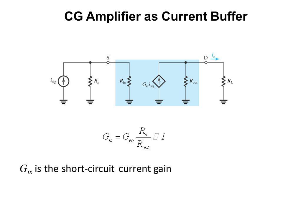 CG Amplifier as Current Buffer