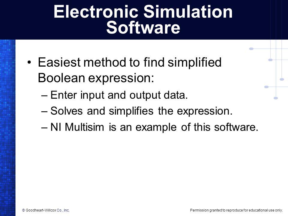 Electronic Simulation Software