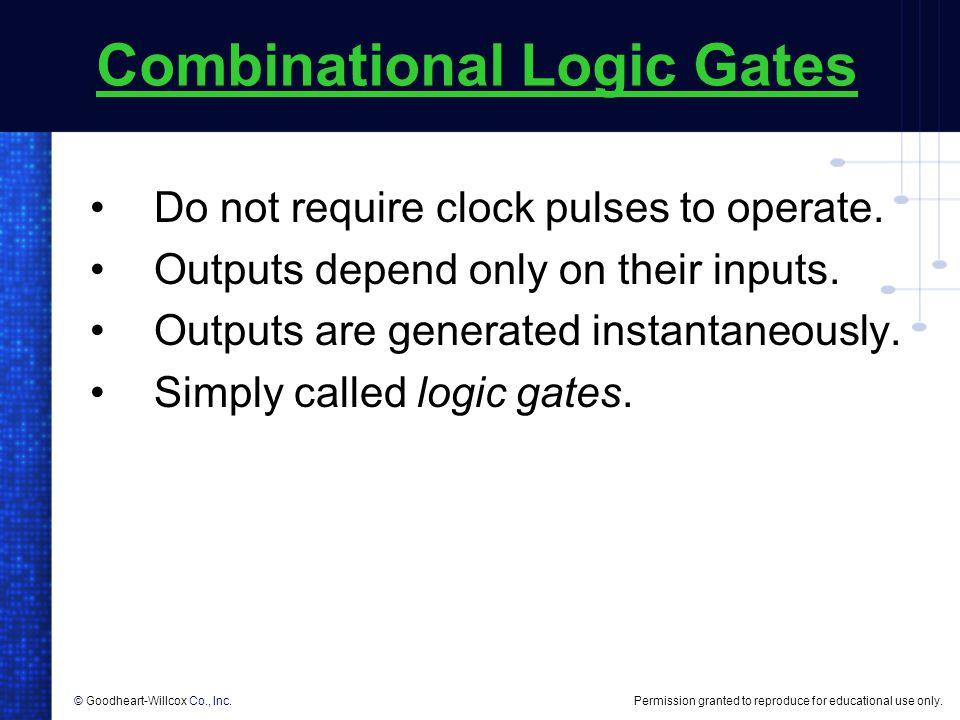 Combinational Logic Gates