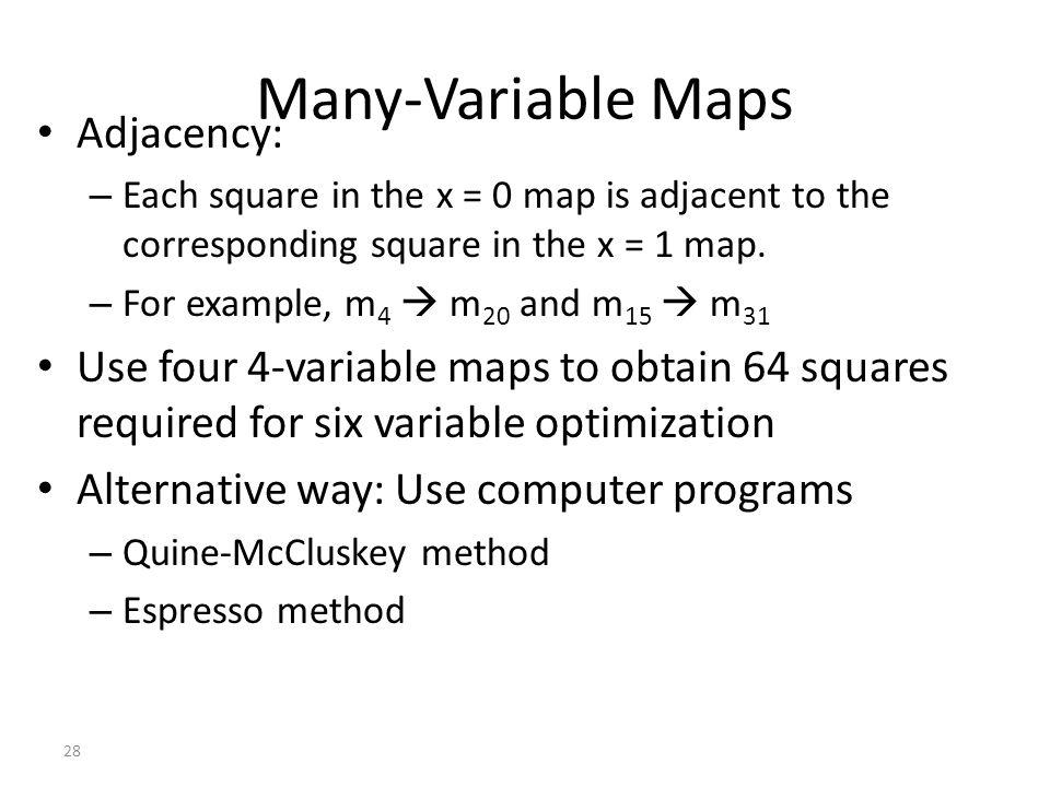 Many-Variable Maps Adjacency: