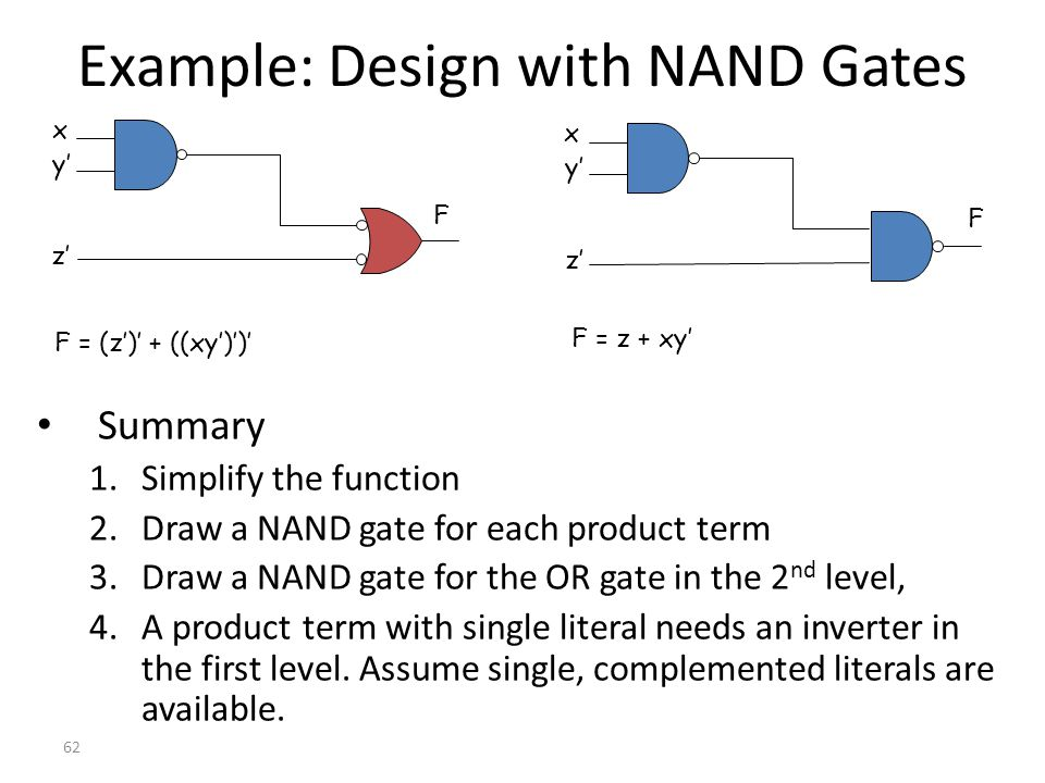 Example: Design with NAND Gates