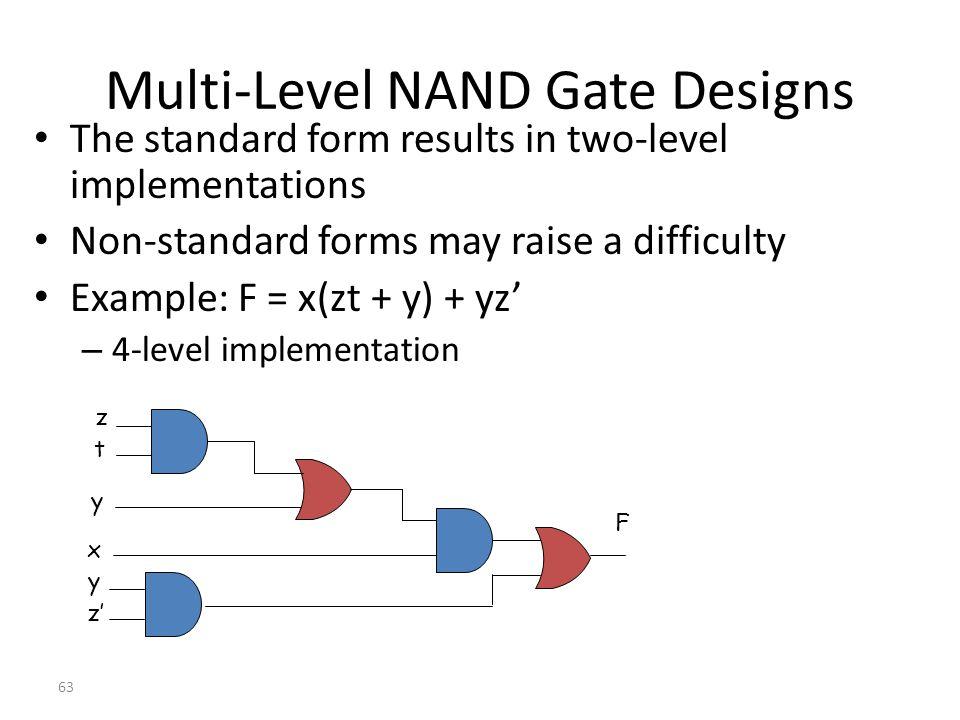 Multi-Level NAND Gate Designs