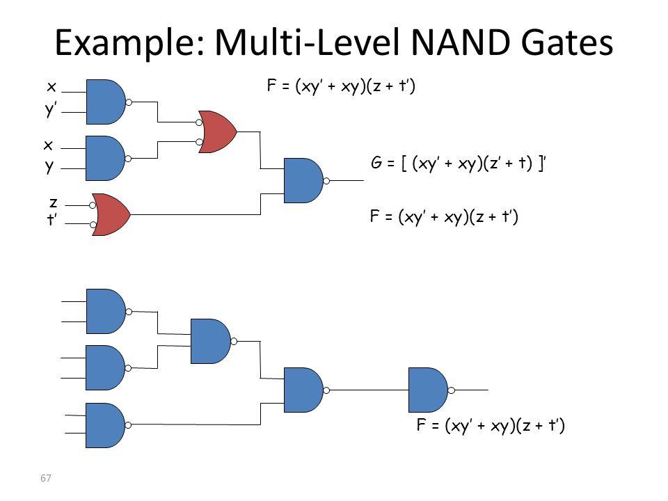 Example: Multi-Level NAND Gates