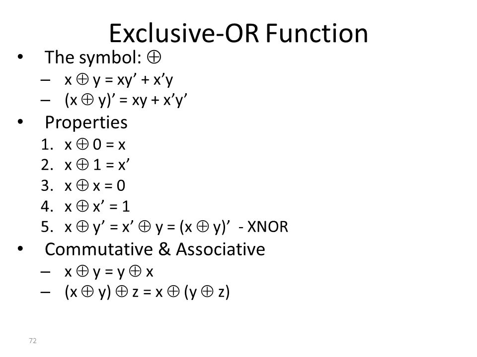 Exclusive-OR Function