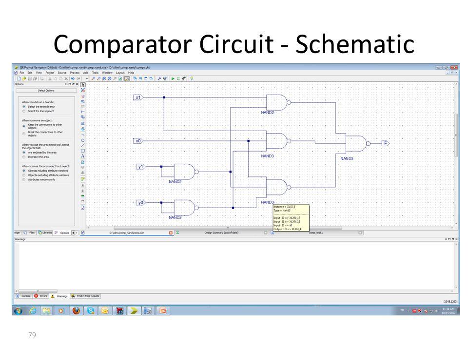 Comparator Circuit - Schematic