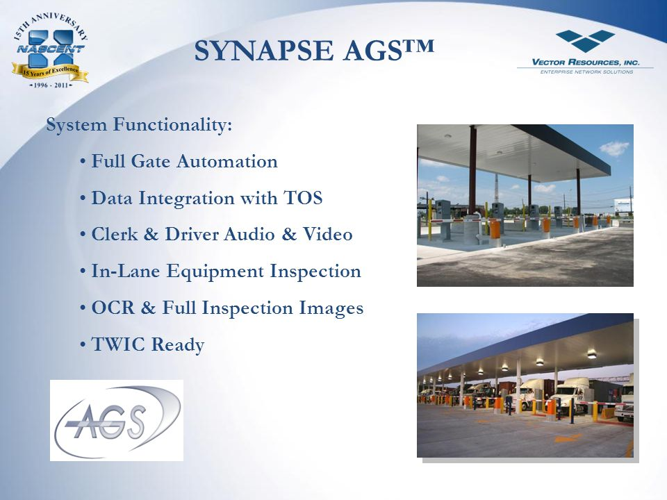 SYNAPSE AGS™ System Functionality: Full Gate Automation