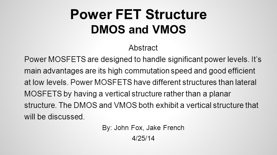 power fet structure dmos and vmos self bias jfet varistor wikipedia