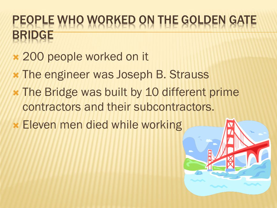 People who worked on the golden gate bridge