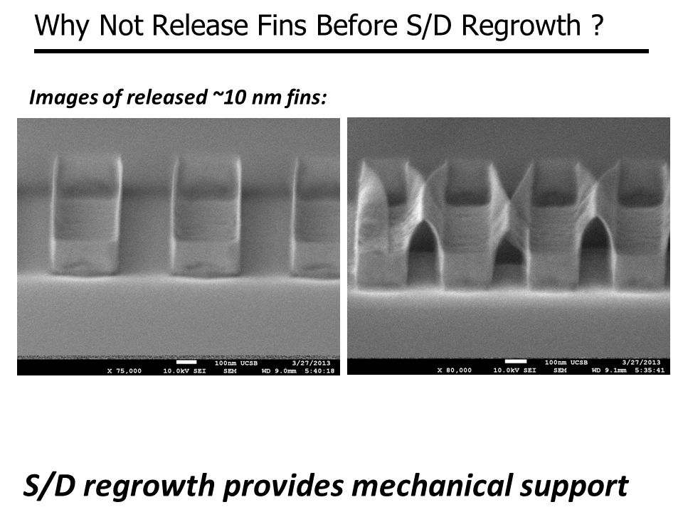 Why Not Release Fins Before S/D Regrowth