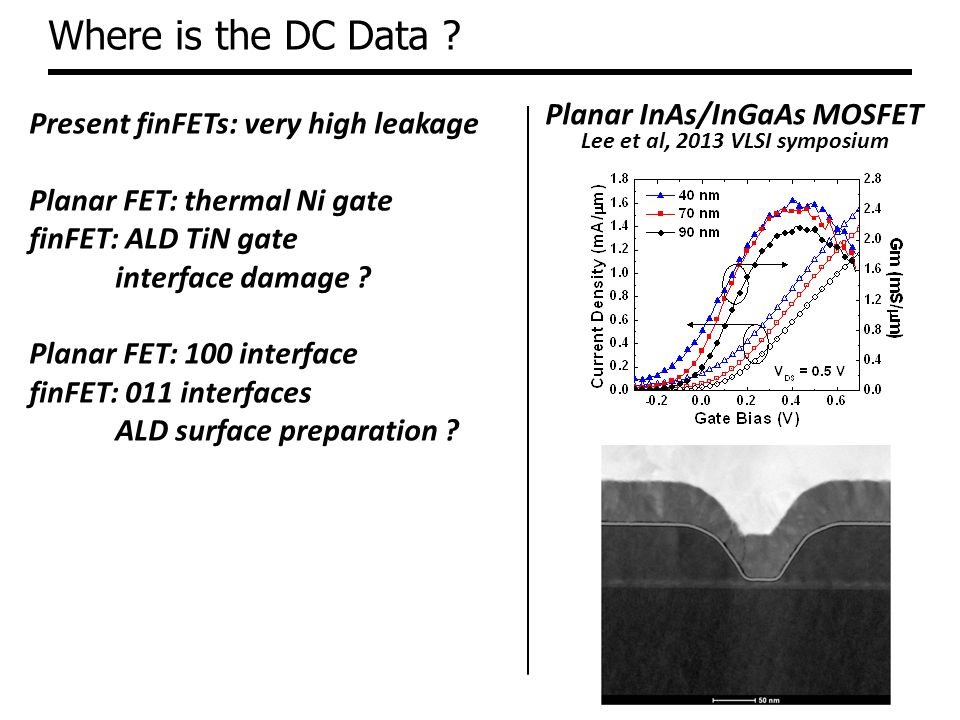 Where is the DC Data Planar InAs/InGaAs MOSFET