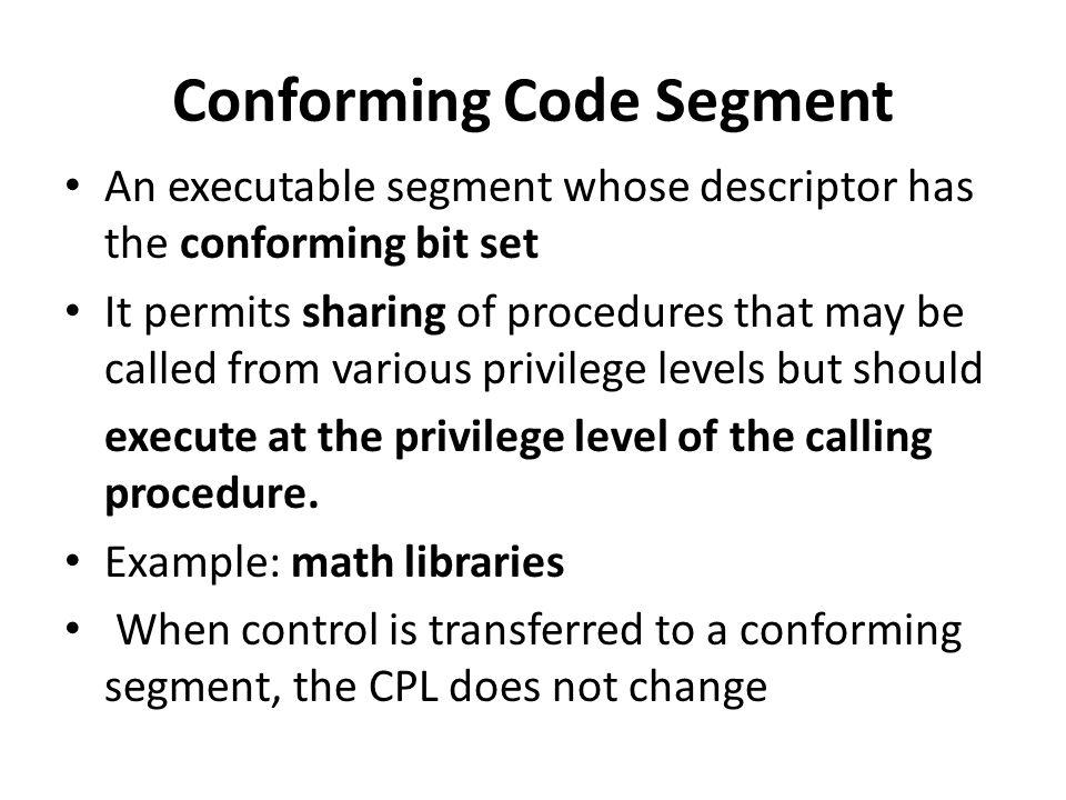 Conforming Code Segment